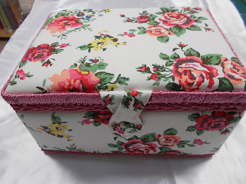 'Roses' Sewing Box