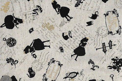 Black, Gold & Cream Alice in Wonderland Nutex A0002