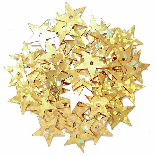 10mm Star Hologram Sequins Gold CF01/01102