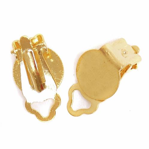 Flat Ear Clips Gold CF01/60202