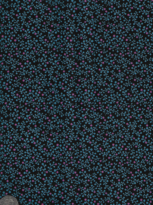 Botanica - Mini Berry on Blue A0653 Makower