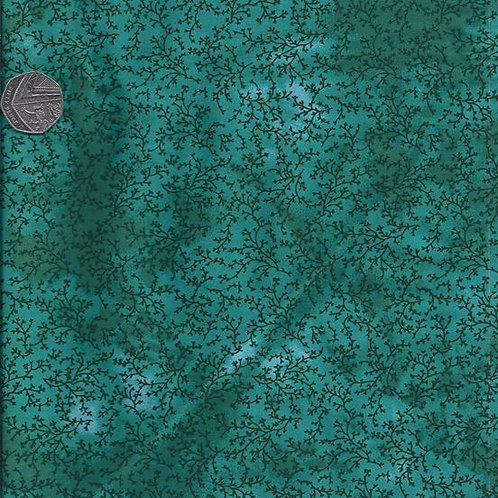 Vines on Turquoise A0528