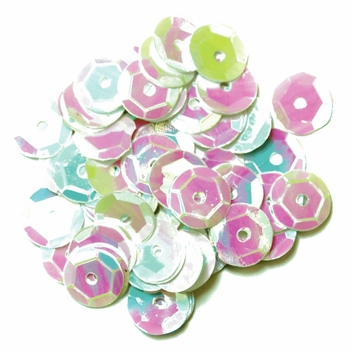 8mm Cup Sequins White CF01/40819 5g