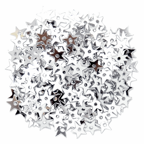 5mm Star Sequins Silver CF01/01501