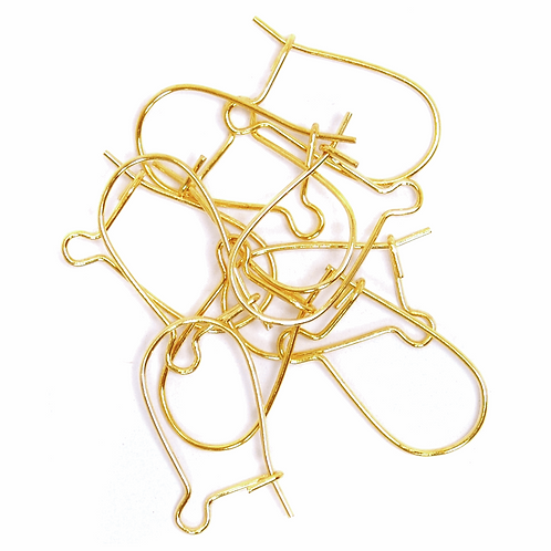 Kidney Wires Gold 10pk CF01/60702