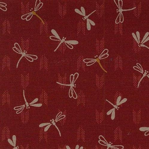 Dragonflies on Red A0358 Nutex
