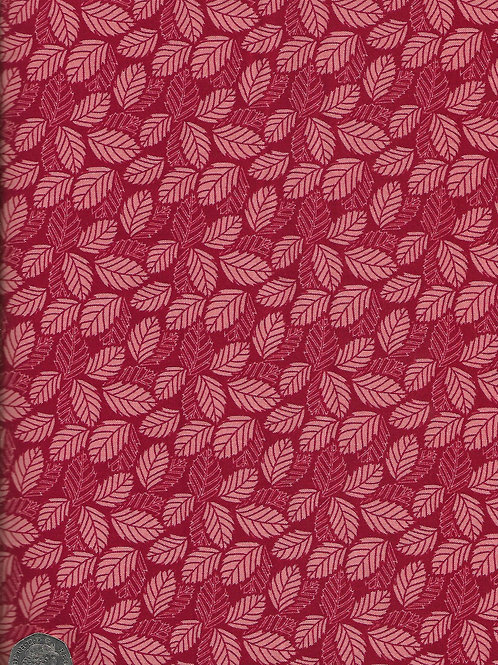 Pink Leaves on Red A0726 Nutex 70030