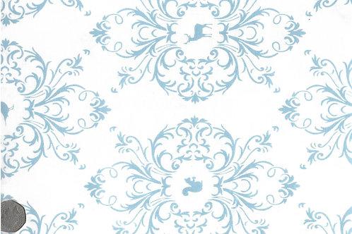 Blue Flora & Fauna on White A0162