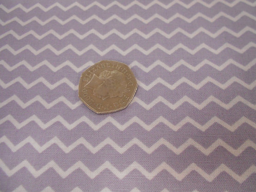 Purple with White ZigZag A0166