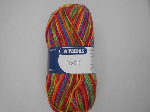 Patons Fab DK Rainbow Colour 02085