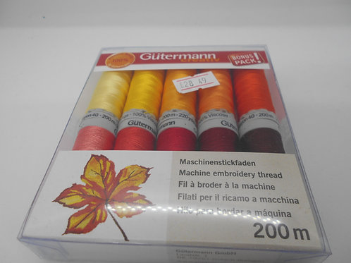 Gutermann 'Autumn Colours' Machine Embroidery Thread Set
