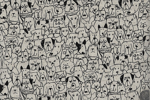 Dog Faces A0800 Linen Mix Nutex