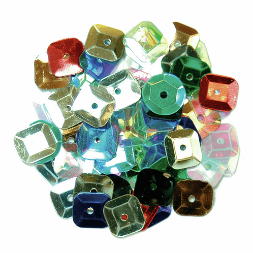 7mm Square Sequins Multicoloured CF01/40707 5g