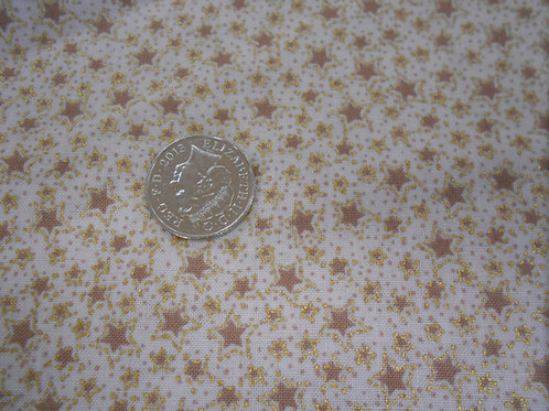 Gold & Beige Stars on Cream Nutex C0025