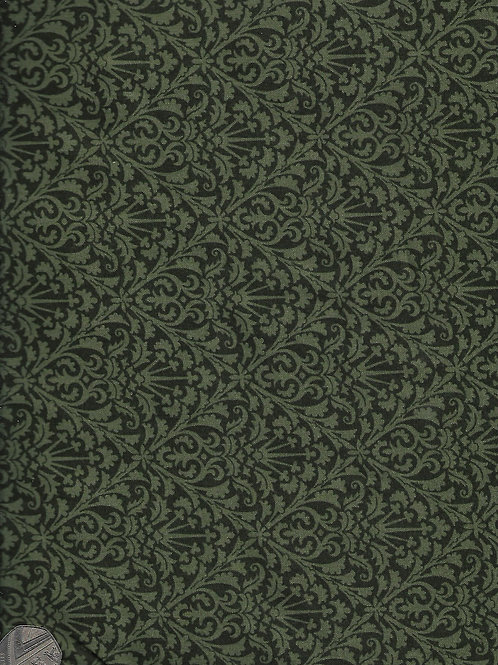 Green Flowery Diamonds on Green 2.8M Wide A0849 Nutex