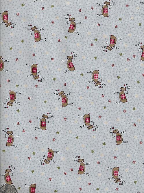 Reindeer on Blue C0010 Nutex