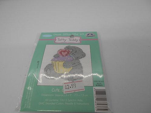 Mini Cross Stitch - Tatty Teddy - Cute Cupcake