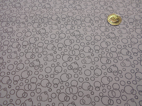 Black Dotty Circles on White Nutex A0072