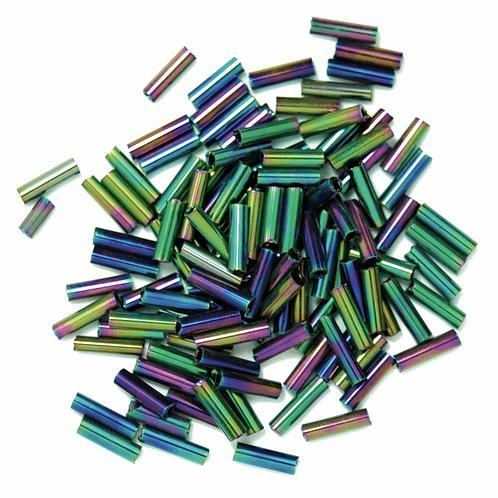 6mm Bugle Beads Rainbow CF01/05036