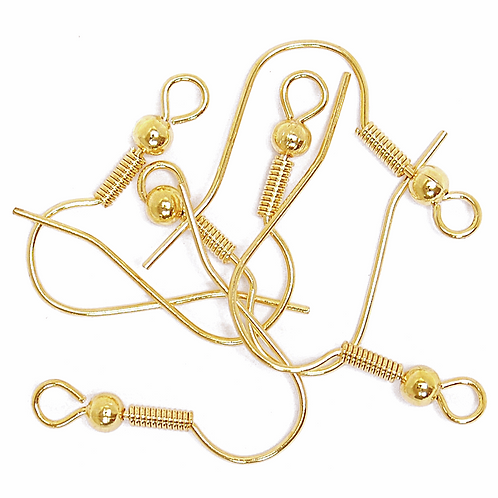 Ear Wires with Hooks Gold CF01/60602