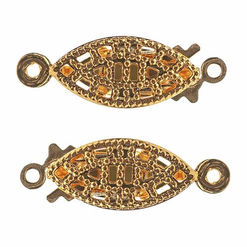 Flat Filigree Box Clasp Gold CF01/61102