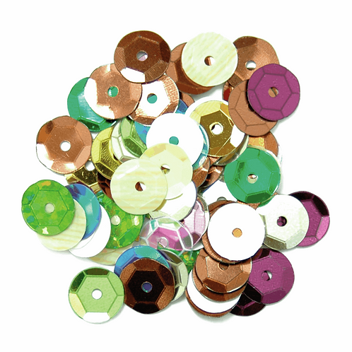 8mm Cup Sequins Multi Coloured CF01/40807 5g