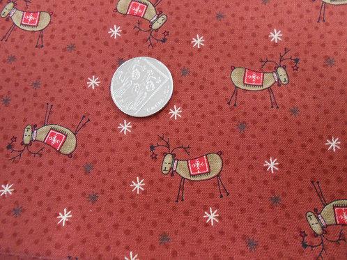 Reindeer on Red Nutex C0009