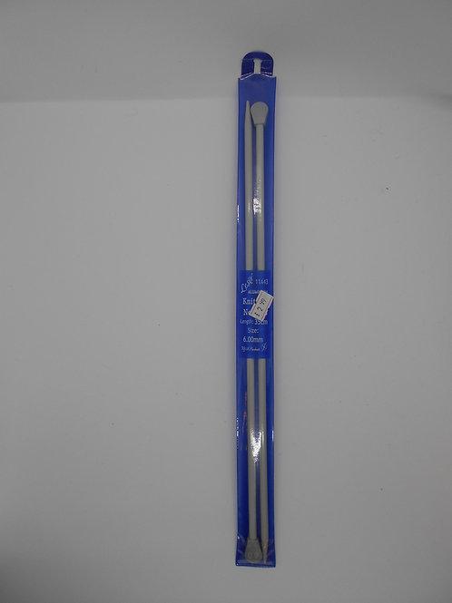 Knitting Needles 6mm x 35cm Lesur