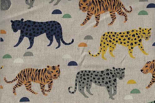 Leopards & Tigers A0793 Linen Mix Nutex
