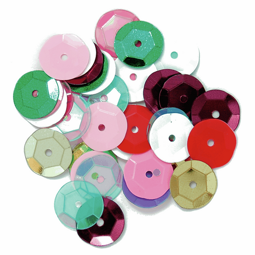 10mm Cup Sequins Multi Coloured CF01/41007 5g