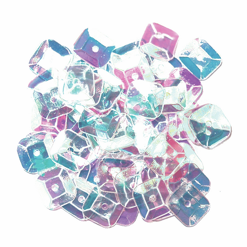 7mm Square Sequins Transparent CF01/40716 5g