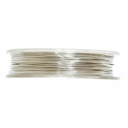 Brass Wire 5m x 0.5mm Silver CF01/55301