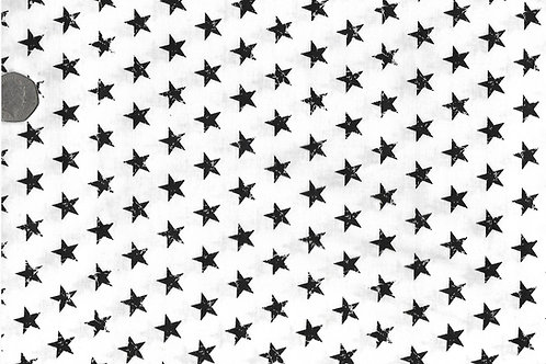 Black Stars on White A0058 Nutex