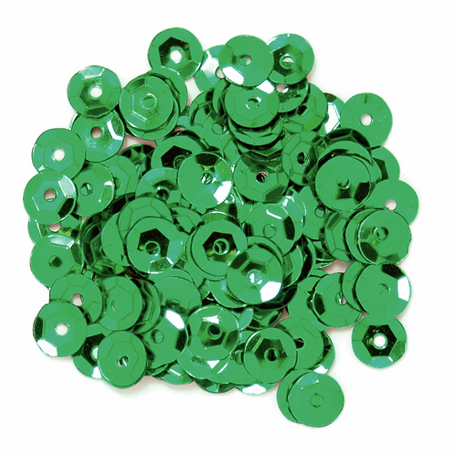 5mm Cup Sequins Green CF01/40504 5g
