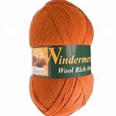 Windermere Wool Rich Aran col 211 Burnt Orange 400g