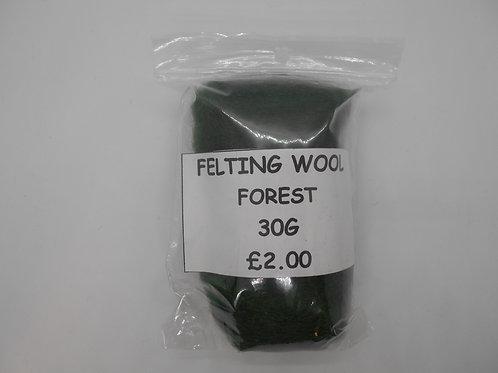 Forest Felting Wool 30g