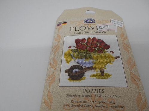 Mini Cross Stitch - Poppies