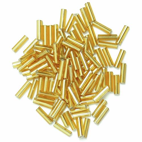 6mm Bugle Beads Gold CF01/05002