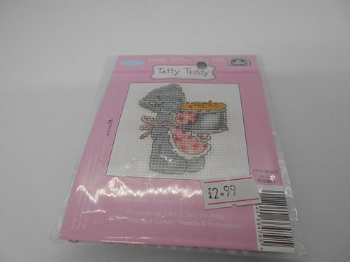 Mini Cross Stitch - Tatty Teddy - Time To Bake