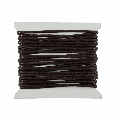 Cotton Waxed Cord Brown 2m x 1mm CF01/55633