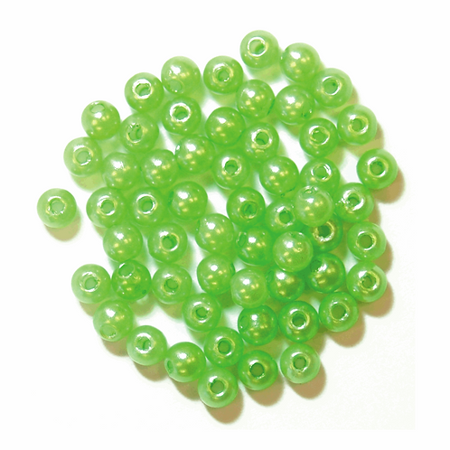 4mm Pearl Beads Lime Green CF01/35428 7g