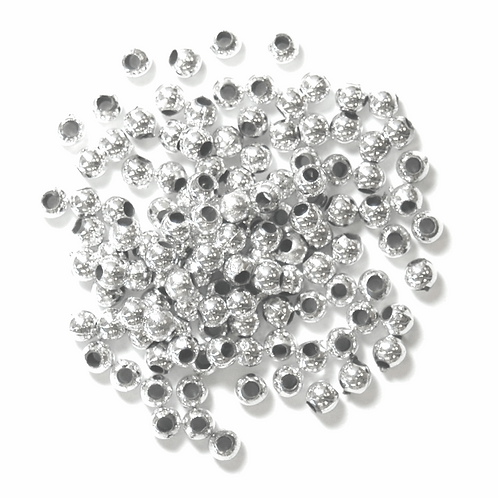 3mm Pearl Beads Silver CF01/35301 7g