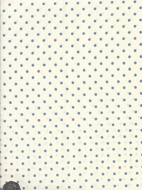 Blue Dots on Cream A0742 Nutex 21490