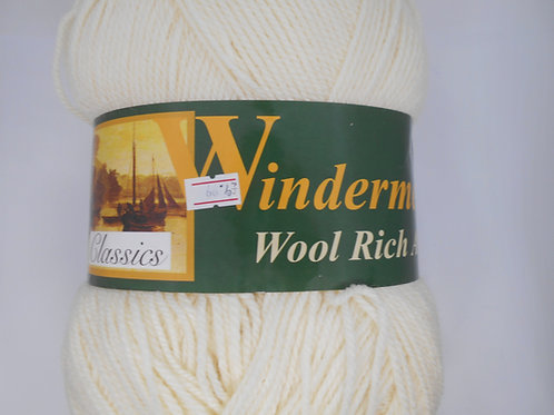 Windermere Wool Rich Aran col 232 Natural 400g