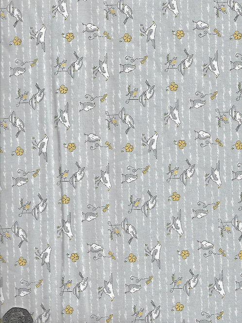 Birds on Grey A0620