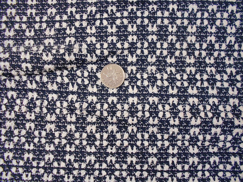 Blue & White Polyester Mix D0069