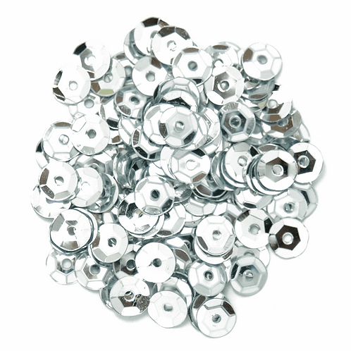 5mm Cup Sequins Silver CF01/40501 5g