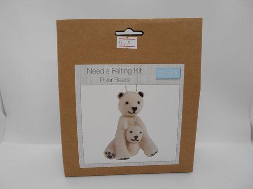 Needle Felt Kit Polar Bears Trimits