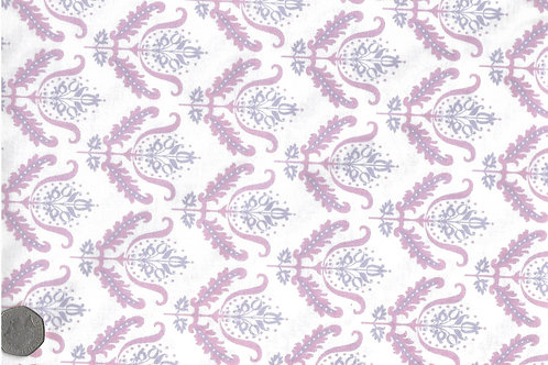 Purple & Mauve Flowers on White A0148