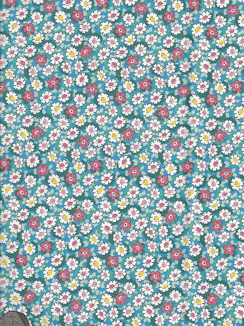 Flowers on Blue A0360 Nutex 21610 110